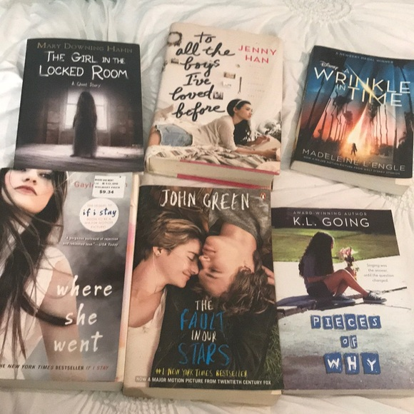 6 lightly used books for sale
